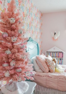 Pretty Pink Winter Tree Decorating Ideas That Looks So Awesome 26