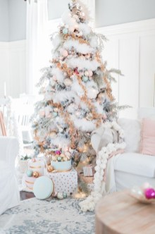 Pretty Pink Winter Tree Decorating Ideas That Looks So Awesome 29