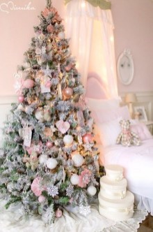 Pretty Pink Winter Tree Decorating Ideas That Looks So Awesome 32