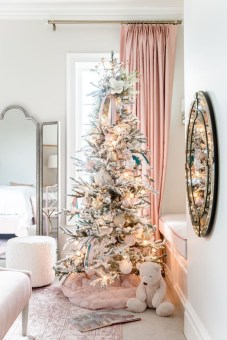 Pretty Pink Winter Tree Decorating Ideas That Looks So Awesome 34