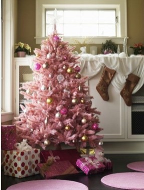 Pretty Pink Winter Tree Decorating Ideas That Looks So Awesome 50