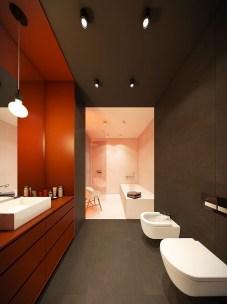 Top Fresh Orange Bathroom Design Ideas To Try Asap 05