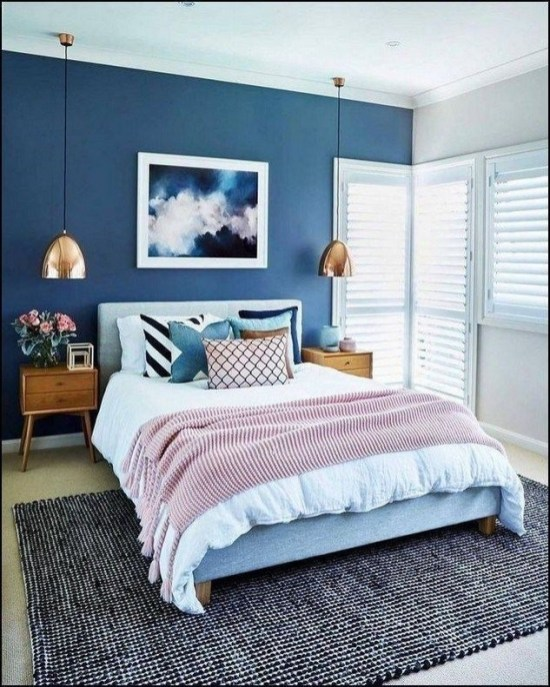 Amazing Bedroom Color Design Ideas For Cozy Bedroom Inspiration To Try 40