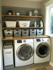 Astonishing Small Laundry Room Design Ideas For Organization To Try 49