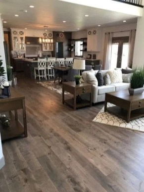 Awesome Living Room Wood Floor Decoration Ideas That You Need To Try 09