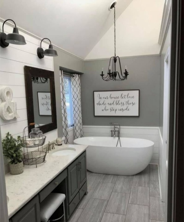 Brilliant Bathroom Wall Décor Ideas That Will Awesome Your Home 39