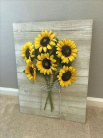 Cool Wood Sunflower Wall Decor Ideas That You Need To Try 04