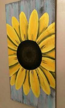 Cool Wood Sunflower Wall Decor Ideas That You Need To Try 50