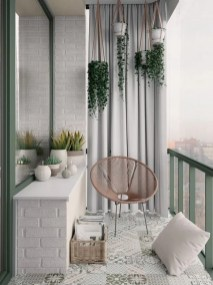 Incredible Small Apartment Balcony Design Ideas On A Budget To Try Asap 40