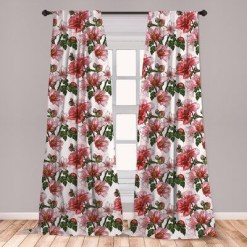 Stunning Bedroom Decoration Ideas With Flower Curtain To Try Right Now 02