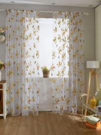 Stunning Bedroom Decoration Ideas With Flower Curtain To Try Right Now 32