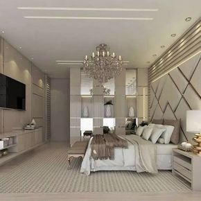 Stylish Bedroom Design Ideas With Tv Wall To Try Asap 03