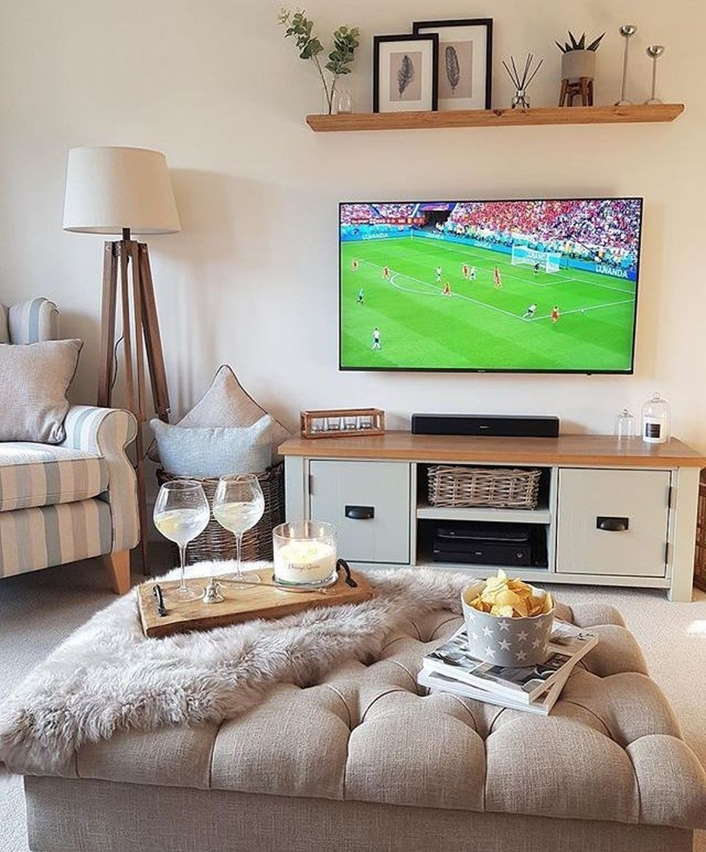Stylish Bedroom Design Ideas With Tv Wall To Try Asap 06
