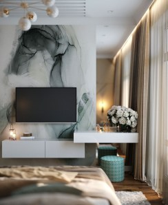 Stylish Bedroom Design Ideas With Tv Wall To Try Asap 18