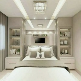 Stylish Bedroom Design Ideas With Tv Wall To Try Asap 30