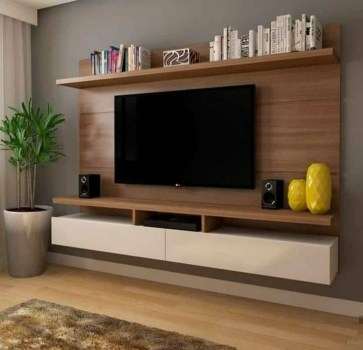 Stylish Bedroom Design Ideas With Tv Wall To Try Asap 38