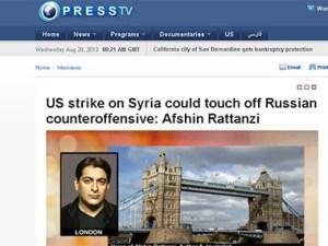 Afshin Rattanzi on Syria