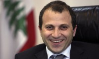 Lebanon's Minister of Foreign Affairs Gebran Bassil