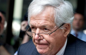 J. Dennis Hastert, a former speaker of the House of Representatives, leaving the federal courthouse in Chicago in June. Credit Christian K. Lee/Associated Press