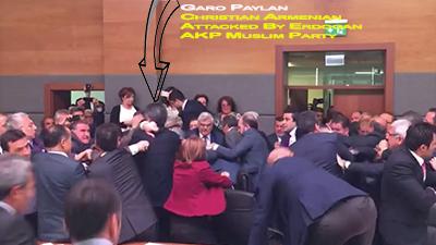 Garo Paylan attacked by Erdogan AKP Muslim Party