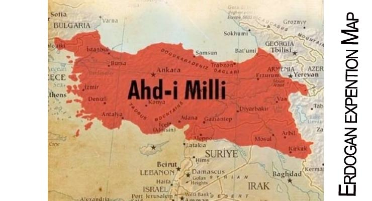 Turkish map includes parts of iraq syria and palestine replaces erdogan expention map gumiabroncs Choice Image