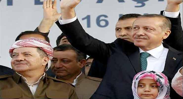 Barzani, Erdogan
