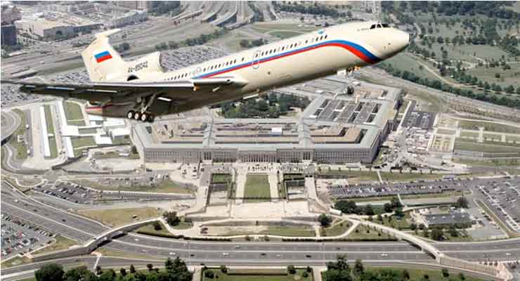 Russia surveillance aircraft flies over Washington secure airspace
