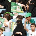 Saudi Arabia allows women at football game for first time