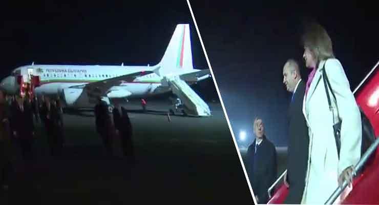 Bulgaria president arrives in Armenia