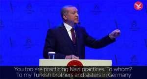Turkey's Erdogan warns Europeans 'will not walk safely on the streets'
