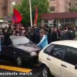 Armenia: Etchmiadzin residents march in protest
