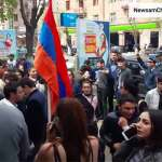 Gyumri Numerous university students and schoolchildren join demonstration