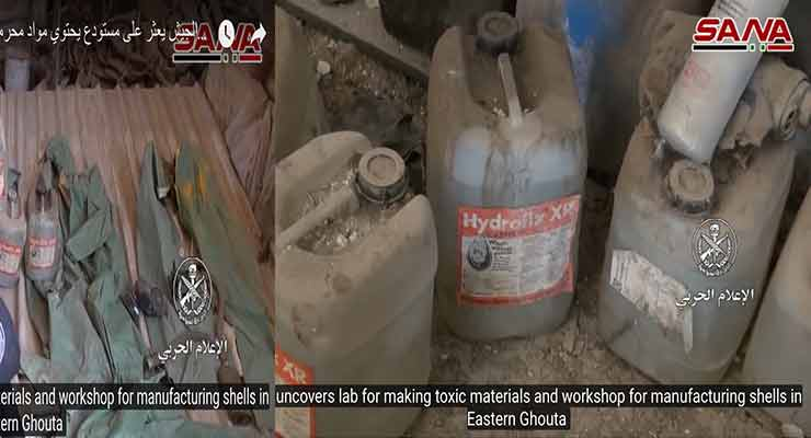 Syrian Army Uncovers Chemical Lab