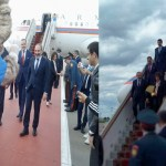 2018 FIFA World Cup mascot Zabivaka greets Armenian Prime Minister in Moscow airport, plays ball
