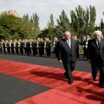Official welcoming ceremony of President of Italy held at Armenian Presidential Palace