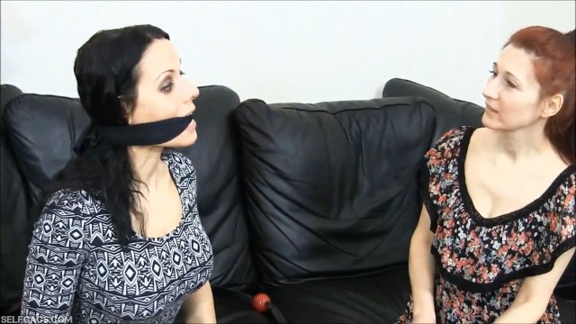 Cleave gagged girl gag talks selfgags