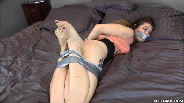 Anastasia Rose in bondage at selfgags.com