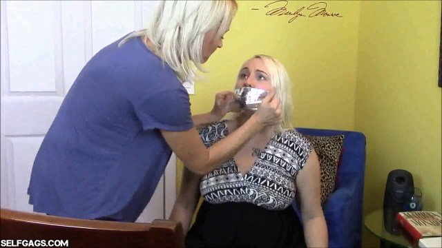 Girl tape gagged by her mom
