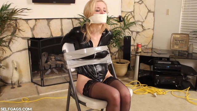 Chair tied damsel in distress