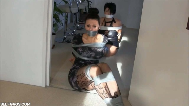 Bound and gagged girls in bondage