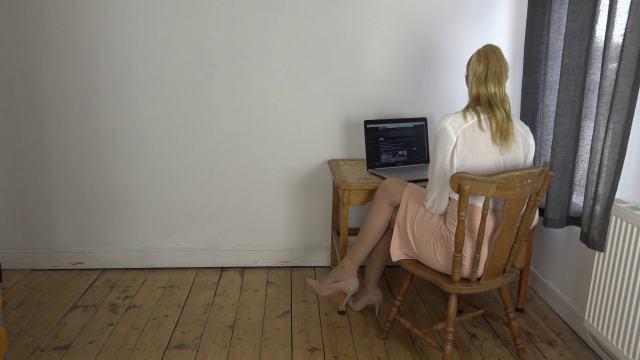Female secretary in office
