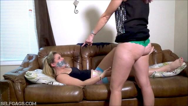 Vicky Vixxx facesitting tape gagged Kendra Lynn