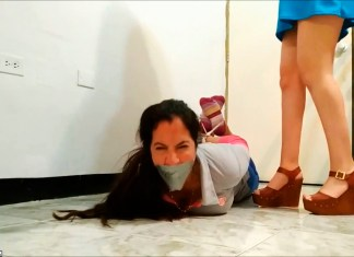 Latina Mom Hogtied And Gagged By Grounded Daughter