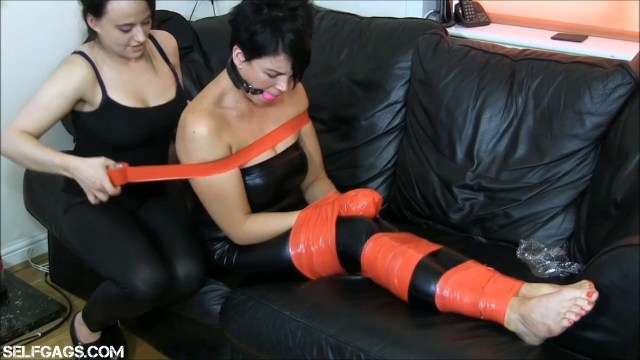 Jet Black tied and gagged by Carleyelle for Selfgags