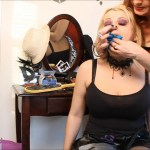 Gothic teen girl rebel crotch rope bound and gagged with dirty panties by milf dominatrix