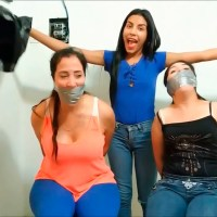 Latina Girl Bags And Gags Mother And Sister!