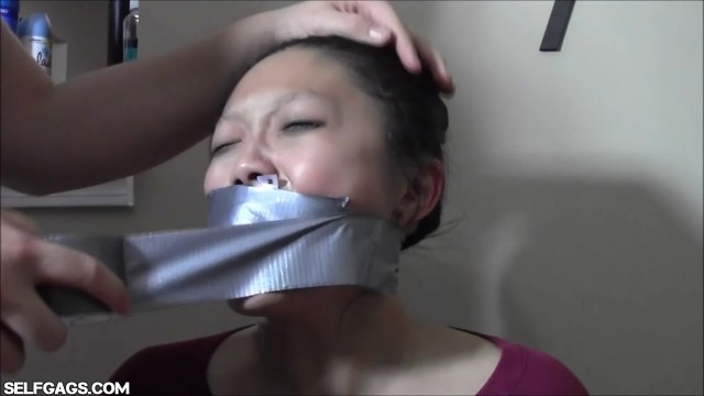 Asian girl tied to chair and forced to cum by sexy bbw