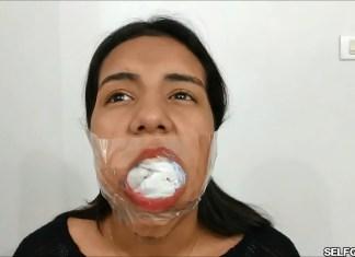 19 year old latina girl sock gagged