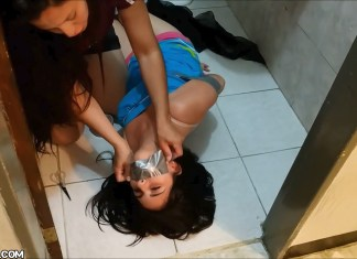 latina mom binds and gags sexy daughter with duct tape