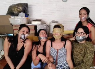 Multiple girls gagged